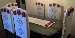 Conjunto de mesa em crochê