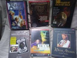 DVDs e CDs Coutry Varios Cantores(as) Importado Novos e Usados