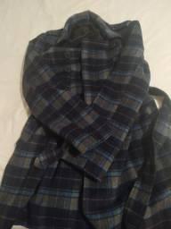 Casaco de lã batida