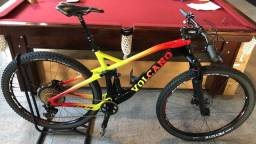 Bike Aro 29 Full Suspension Carbono Soul Volcano XX1 Eagle Gold 12v RockShox Sid