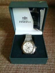 Relógio Festina original, modelo 16483/1, todo em aço inox, novo na caixa