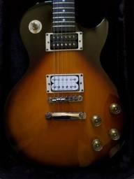 Guitarra Epiphone Les Paul 100 Indonésia + Captador ponte Seymour Duncan + Case