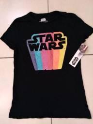 Blusa Star Wars feminina (Novo)