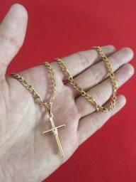 Cordão dourado aço inoxidável