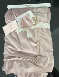Acolchoado aveludado rosa bebê