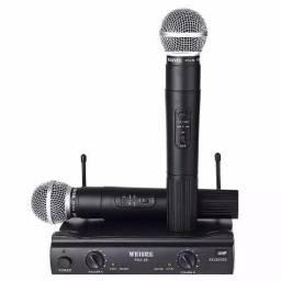 microfone s/ fio duplo
