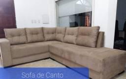 Sofa Canto gigante sued amassada luxo D28 2.03X2.60cm largura