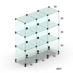 Balcão de vidro temperado 4mm 0,90x1,00x0,30