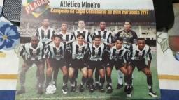 Pôster Placar Atlético MG Campeão da Copa Centenário de Belo Horizonte 1997