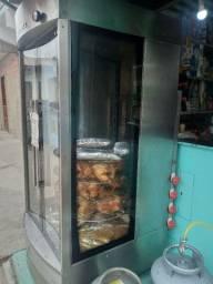 Máquina de assar frango giratória 60 frangos