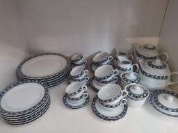 Jogo de Porcelana Schmidt Classic 31 peças - Café, Chá, sobremesa e jantar