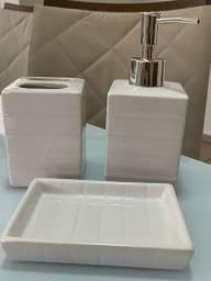 Kit 3 peças para banheiro em cerâmica