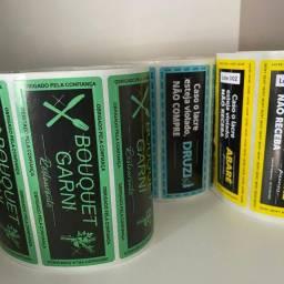 Lacres para embalagens personalizados