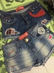 02 Shorts Jeans Fill Sete Originais, TAM 42 e 44