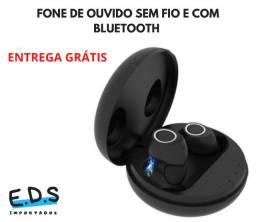 Fone de Ouvido Sem Fio MS-TW6 Com Bluetooth