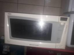Microondas + forno eletrico brastemp 38 litros 110v com garantia