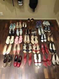 29 pares de sapatos femininos