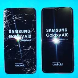 Título do anúncio: Touch Frontal - Trocamos a tela do seu Galaxy A10 - Original  (Lojas WiKi)