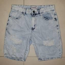 Bermuda jeans clara masculina