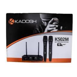 Microfone Kadosh S/ Fio  Duplo K-502m