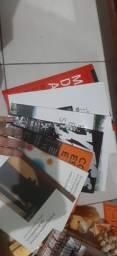 Kit de livros de arquitetura e interiores