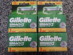 Carga Gillette Mach3 Sensitive com 12