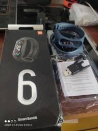 Relógio smartwatch M6 lançamento completo top Ac cartão