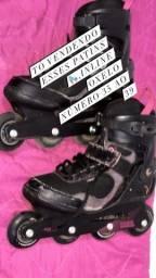 Vendo patins usado 3 vez