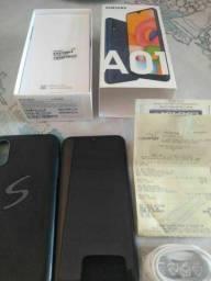 Samsung A01 32gb estado de Novo com nota fiscal passo nos cartõaté 4x