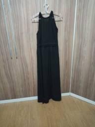 Vestido preto de crepe