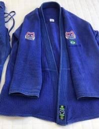 Kimono Azul, marca Machado, tamanho A3