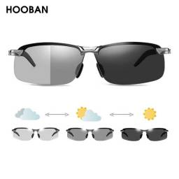 Óculos fotocromático polarizado lente inteligente