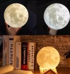 Difusor e Umidificador Luminaria Led Lua Cheia