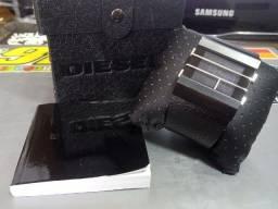 Relógio Diesel Dz7070 Couro All Black Completo Caixa Manual