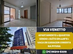 Via Venetto, 2 quartos sendo 1 suíte em 62m² na Pituba