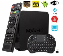 Tvbox MXQ-4K 2GB Ram / 16GB Rom + Mini Teclado Bluetooth
