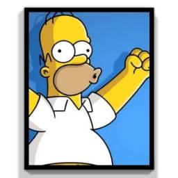 Quadro Os Simpsons | 33x24cm Moldura E Vidro