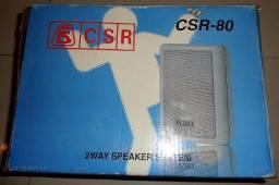 Caixa Acústica CSR-80 Passiva 50w (par) c/ suporte