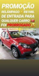 Showroom! A LOJA DO POVÃO.R$1MIL DE ENTRADA(SANDERO STEPWAY 1.6 2014)TOP