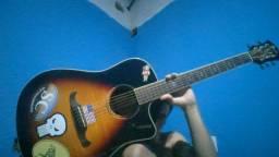 Violão Fender E-Acústico Ativo Aço T-Bucket 300CE -Captador Fishman