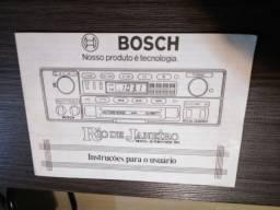 Manual Original do Rádio toca-fitas Bosch Rio de Janeiro