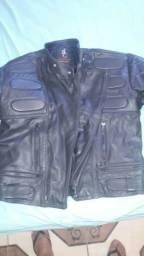 Jaqueta de couro Augustus s couros tamanho 50 (G) unisex para motoqueiros
