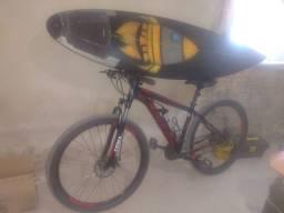 Bike aro 29 + prancha de surf