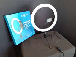Ring Light Inova 26 cm com tripé *Novo