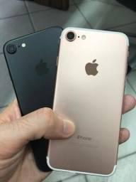 Iphone 7 Semi novo Impecave 11 meses de garantia Apple 32gb 128gb Rose Preto