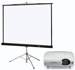 Locação de projetor e telão