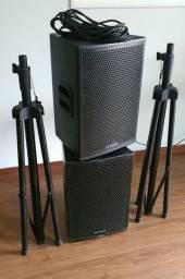 Caixas de som ativa e passiva Attack Áudio System