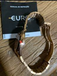 Relógio euro rose