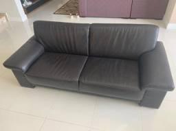 Conjunto sofás de couro legítimo (importados da Alemanha)