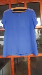 Blusinha de tule Azul